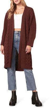 BB Dakota On The Cable Open Front Long Cardigan