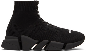 Balenciaga Black Lace-Up Speed 2.0 Sneakers