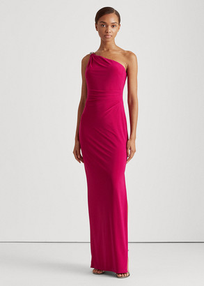 Ralph Lauren Jersey One-Shoulder Gown