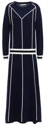 Parker Chinti & Striped Wool And Cashmere-blend Midi Dress