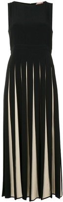 No.21 Pleated Midi Dress