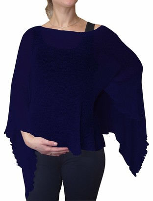 Ikat Ladies Maternity Pregnancy Cover Up Cape Crochet Lace Fish Net Batwing Poncho (One Size