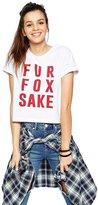 Merry Mou Store Merry Women's Fur Fox Print Short Sleeve Crew Neck Loose T Shirts
