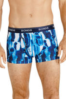 Bonds NEW Guy Front Microfibre Barnacle Print Trunk Blue