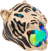 Betsey Johnson Mystic Baroque Queens Gold Tiger Statement Ring