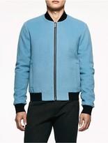 Calvin Klein Platinum Wool Cashmere Jacket