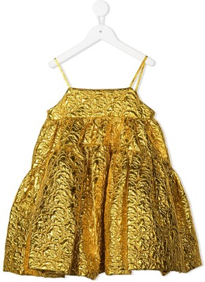 Caroline Bosmans Metallic Jacquard Dress