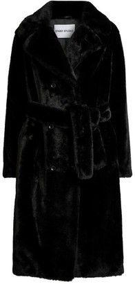 Stand Faustine Faux Fur Belted Coat
