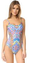 Red Carter Beauty & The Beach Cutout Swimsuit