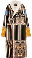 Etro Shearling-lined Jacquard Coat - Beige