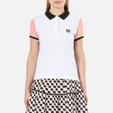 Kenzo Women's Colour Blocked Pique Polo TShirt - White
