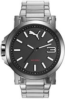 Puma Ultrasize 45 Women's Quartz Watch with Black Dial Analogue Display and Silver Stainless Steel Strap PU103462018