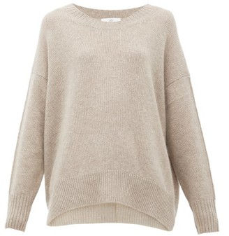 Allude Oversized Cashmere Sweater - Womens - Grey