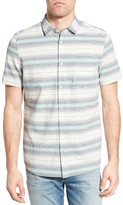 Jeremiah Men's Gibson Regular Fit Textured Stripe Sport Shirt
