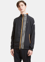Adidas By Kolor Men's Metallic Three Striped Track Jacket in Black