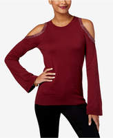 MICHAEL Michael Kors Cotton Cold-Shoulder Sweater, Created for Macy's
