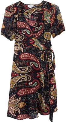 Velvet by Graham & Spencer Paisley Printed Faux Wrap Dress