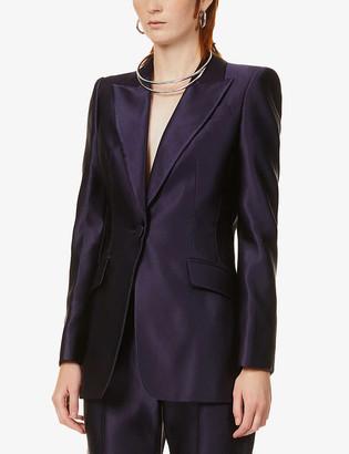 Alexander McQueen Single-breasted silk blazer