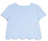 Aqua Girls' Scalloped Top - Big Kid
