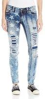 Miss Me Women's American Spirit Mid-Rise Skinny Jeans