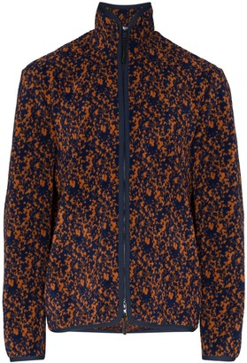 Lou Dalton Fleck Print Zip-Up Fleece Jacket
