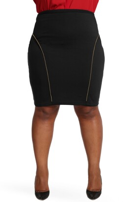 Poetic Justice Tiffy Ponte Knit Pencil Skirt