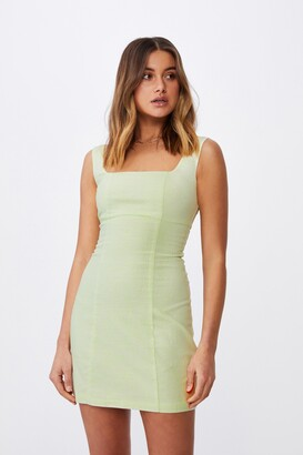 Supre Capri Fitted Square Neck Mini Dress