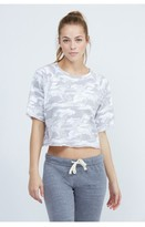 Monrow Neutral Camo Cut Off Sweatshirt