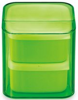 Masakazu stylish lunch box unit BENTO cube clear green two-stage band with (japan import)