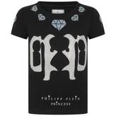 Philipp Plein Philipp PleinGirls Black Diamante Logo Top