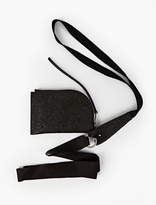 Rick Owens Black Embossed Leather Pouch