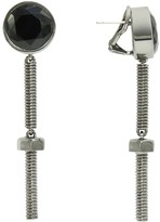 Nicole Miller Nuts and Bolts Long Drop Earrings