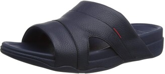 FitFlop Men's Freeway Pool Slide In Leather Slide Sandal