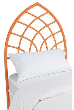 David Francis Furniture Cathedral Twin Open-Frame Headboard Color: Citrus Orange
