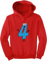 TeeStars - Four Years Old Boy Birthday Gift - I'm 4 Toddler Hoodie