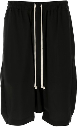 Rick Owens Dropped Crotch Drawstring Shorts
