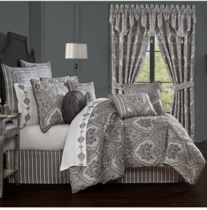 J Queen New York Silverstone California King 4 Piece Comforter Set Bedding
