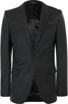 Alexander Mcqueen - Black Slim-fit Polka-dot Virgin Wool Suit Jacket