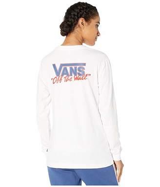 Vans BMX Long Sleeve Boyfriend Tee (White) Women's T Shirt
