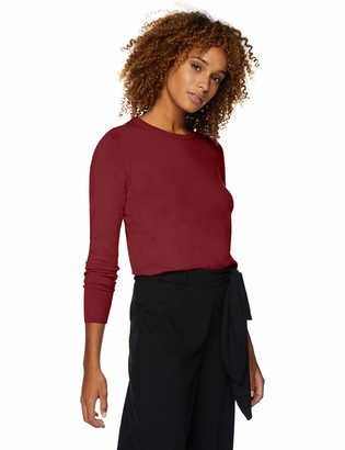 Lark & Ro Women's Premium Viscose Blend Long Sleeve Crewneck Sweater