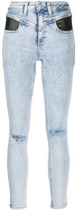 Calvin Klein Jeans High-Rise Block-Yoke Skinny Jeans