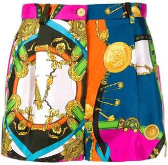 Versace Multicolored Barocco Print Shorts