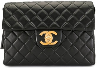 Chanel Pre Owned 1995 Diamond Quilted Chain Backpack