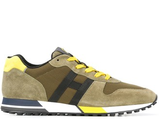 Hogan H383 panelled low-top sneakers