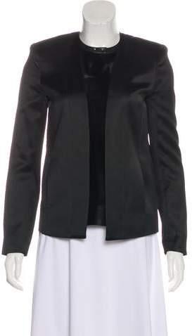 J Brand Textured Open-Front Blazer