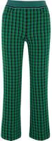 Missoni Checked Stretch Wool-blend Straight-leg Pants - Green