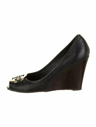 Tory Burch Leather Pumps Blue