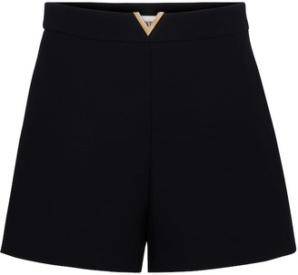 Valentino wool and silk crepe shorts