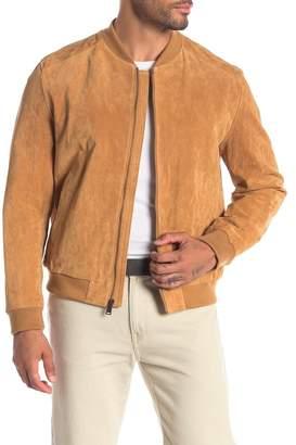 Cole Haan Suede Varsity Jacket