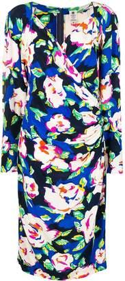 Ungaro Pre-Owned floral print wrap-front midi dress
